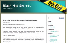 Caution Wordpress Template